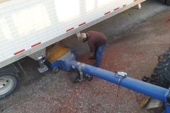 Unloading semi 2